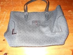 Guess Large Grey/Black Purse #GUESS #Satchel