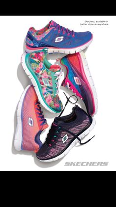 97252ec672eb Colorful Comfort  Shop new styles for Spring with Skechers Memory Foam - I  walked all day in my Sketchers today. The most comfortable sneaker ever and  so ...