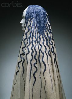 Wedding veil 1935  Elsa Schiaparelli, Italian designer, rival of Chanel
