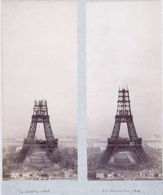 Photos of famous landmarks while they were still under construction. The Eiffel Tower, Paris, France (Gustave Eiffel, 1887-1889) nrf