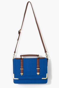 Putucos Messenger Bag in Blue Canvas