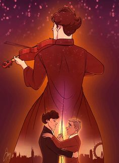 Whaa... this is realy beautiful johnlock fan art!