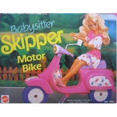 Barbie Scooter 1990- I had Skipper and her scooter!