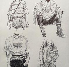 Pretty Art, Cute Art, Art Du Croquis, Character Art, Character Design, Character Sketches, Art Mignon, Arte Sketchbook, Sketchbook Inspiration