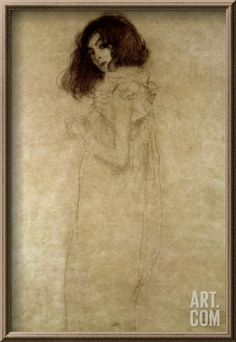 Portrait of a Young Woman, 1896-97 by Gustav Klimt. Framed Giclee Print from Art.com, $104.99