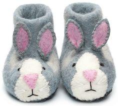Rory Rabbit Felt Slippers (so darn cute!)