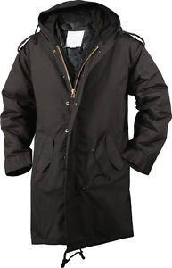 £90 Rothco Black Military M-51 Fishtail Parka Jacket