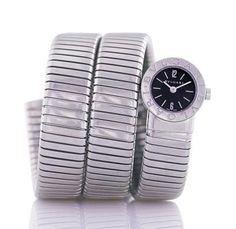 From Les Pierres de Julie: Rare Vintage Bulgari Stainless Steel Watch. Quite unique !