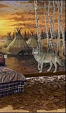 Southwest Style Decorating Ideas Southwestern Theme Bedroom Decorations Native American Wolf