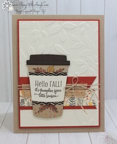 I used the cute Merry Cafe stamp set from the upcoming 2017 Stampin' Up! Holiday Catalog to create my card to share today. I love that this stamp set coordinates with the Coffee Cups Frameli…
