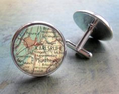 KARLSRUHE cufflinks map city vintage gift for him Vintage Architecture, Pink Houses, City Maps, Summer Photos, Vintage Gifts, Gifts For Him, Fine Art Prints, Travel Photography, Cufflinks