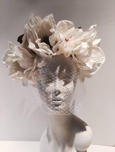 Items similar to Ivory Fascinator- Birdcage headpiece -Bridal on Etsy Ivory Fascinator, Fascinator Headband, Garden Party Wedding, Wedding Hats, Wedding Veil, Sculpture Art, Sculptures, Dress Flower, Still Life