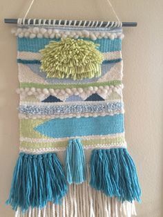 Woven wall hanging from Shabby Sheep Fiber Studio Weaving
