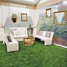 Outdoor-indoor tented lounge area // Ivy Robinson Your Wedding Designer // Jasmine Star Photography