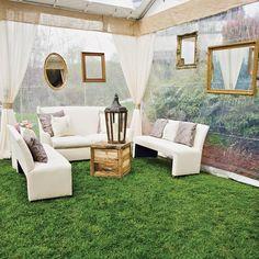 Outdoor-indoor tented lounge area // Ivy Robinson Your Wedding Designer // Jasmine Star Photography