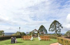Arbour Ceremony - Flaxton Gardens Arbour, Garden Styles, Gazebo, Golf Courses, Gardens, Teaching, Wedding, Valentines Day Weddings, Deck Gazebo