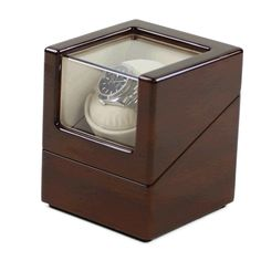 New Automatic One Watch Winder. Available in Piano Black or Wood Finish. Four Programs. Japanese Motor. Mains or Battery.