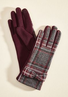 Go Warmth and Conquer Gloves. With these vintage-inspired gloves warming your fingers, your commute can be used to get in the right mindset for the workday ahead. #red #modcloth