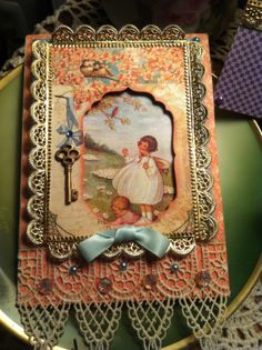 This card was made using a Spellbinders die, and the Secret Garden collection
