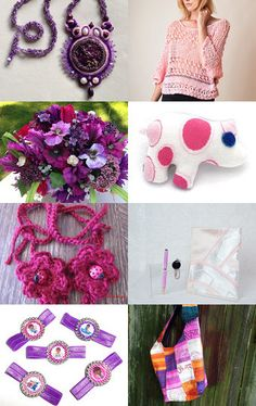 Pink and Purple by Andrew and Lidia on Etsy--Pinned with TreasuryPin.com