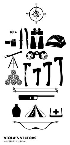 Wilderness Survival Vectors, Free Download « A GRAPHIC DESIGN BLOG