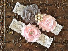 Blush Wedding Garter Wedding Garter Set Pink by TheRaggedDiamond, $20.00