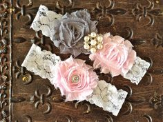Wedding Garter Wedding Garter Set Blush by TheRaggedDiamond, $20.00