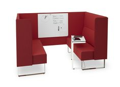 Another example of the Monolite Booth system, this product is perfect for small meetings and group collaboration. The booth provides privacy and sound protection without seclusion. With the addition of a white board and laptop table, take meetings from informal to fully functional.  Find out more about Monolite and the Monolite Booth here: http://hightoweraccess.com/product/monolite/