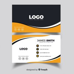 Creative business card with abstract shapes Free Vector Vertical Business Cards, Luxury Business Cards, Minimal Business Card, Elegant Business Cards, Professional Business Cards, Business Card Logo, Business Card Design, Creative Business, Id Card Template