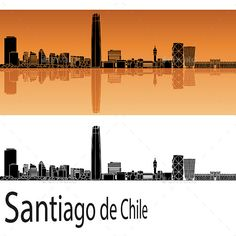 Buy Santiago de Chile Skyline in Orange by paulrommer on GraphicRiver. Santiago de Chile skyline in orange background in editable vector file. Building Icon, Skyline Silhouette, Vector Portrait, Orange Background, Watercolor Drawing, Vector File, Vector Pattern, Towers, Illustrator