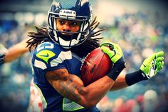 Richard Sherman, Seattle Seahawks football is my favorite CB/defensive player in the NFL. He got a big mouth but can always back it up. #actionsSpeakLouderThanWords