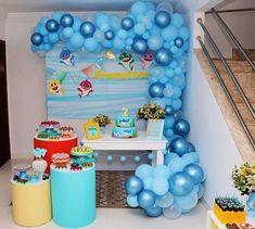 Baby Fish, Baby Shark, Monster Birthday Parties, Birthday Party Themes, Underwater Birthday, Underwater Theme, Shark Party Decorations, Bubble Guppies Birthday, Baby Birthday