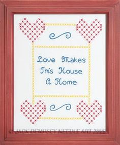 Love Sampler #embroidery #embroiderybyhand #JDNA #love