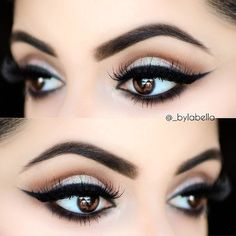 Makeup inspiration: Wing eyeliner (sultry evening look)