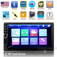 "Car Stereo Radio Bluetooth Audio Receiver Double Din 7"" Touch Screen USB AUX TF https://qdiz.com/?p=2884"