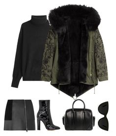 """""""Untitled #300"""" by lacywoods ❤ liked on Polyvore featuring Alexander Wang, Closed, Barbed, Gianvito Rossi, Givenchy and Quay"""