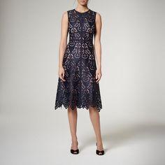 Marie Navy Dress | Clothing | L.K.Bennett Royal Ascot, Navy Lace, Navy Dress, Stylish, Skirts, Clothes, Dresses, Wedding, Fashion