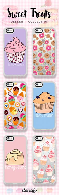 6 most popular sweet treat iPhone 6s phone cases | Click through to shop >>> https://www.casetify.com/artworks/QFCrwZcygm #phonecase #protective #food | @casetify