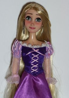 "17"" Rapunzel OOAK doll repaint. Added real lashes, hair restyled."