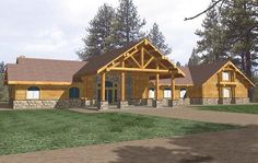Log House Plan with 6679 Square Feet and 4 Bedrooms from Dream Home Source   House Plan Code DHSW076848