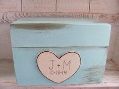 Recipe Box  Robins Egg Blue  4 x 6 recipe cards  Wedding Shower *** This is an Amazon Affiliate link. To view further for this item, visit the image link.