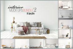 interior mockups bundle, stock photo by HisariDS Mockup Design on @creativemarket