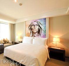 Fotobehang   portrait of american indian