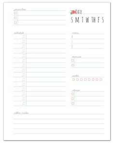 Free Printable Daily Planner + More free home management printables!  //  fabnfree.com