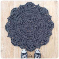 Crochet rug crochet carpet doily lace rug by eMDesignBoutique More