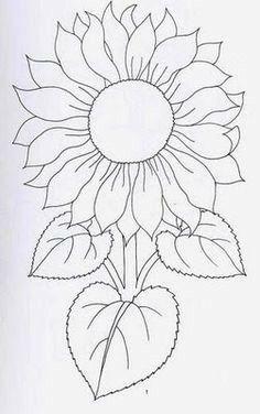 New Ideas Embroidery Sunflower Pattern Design – Handstickerei Hand Embroidery Patterns, Applique Patterns, Mosaic Patterns, Painting Patterns, Fabric Painting, Embroidery Designs, Sunflower Quilts, Sunflower Art, Sunflower Pattern
