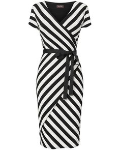 Phase Eight   Coco Stripe Wrap Dress   Womens