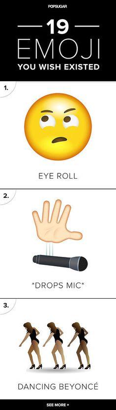 19 Emoji You Wish Existed