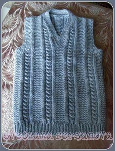Жилет спицами. Vest knitting