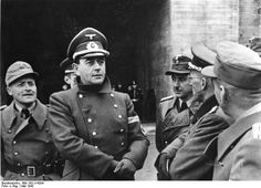 Munitions minister Albert Speer visits the fortifications on the French coast ('Atlantic Wall') in May 1943.
